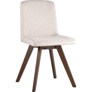 Стул обеденный Stool Group Marta массив гевеи цвет орех/сидение светло-серое LW1902 BZ12-light brown