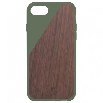 Чехол-накладка Native Union CLIC WOODEN для Apple iPhone 7/iPhone 8 olive