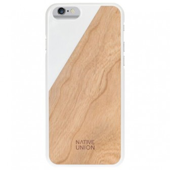 Чехол-накладка Native Union CLIC WOODEN для Apple iPhone 6 Plus/iPhone 6S Plus white