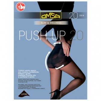 Колготки Omsa PUSH-UP 20 den, размер 5-MAXI, nero (черный)