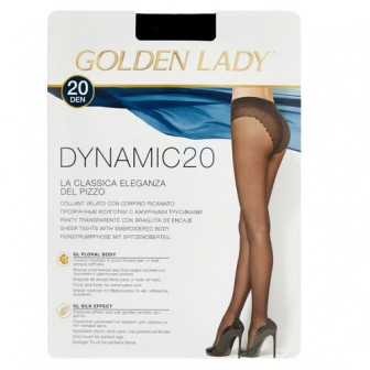 Колготки Golden Lady Dynamic 20 den, размер 3-M, nero (черный)