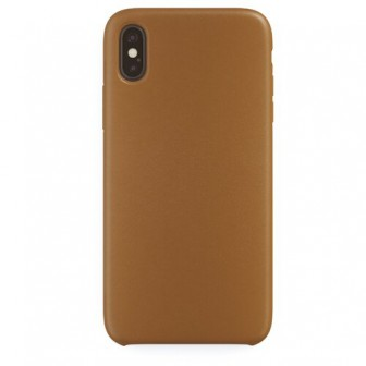Чехол-накладка uBear Capital Leather для Apple iPhone X/Xs brown
