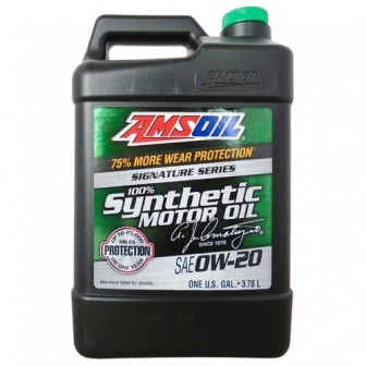 Моторное масло AMSOIL Signature Series Synthetic Motor Oil 0W-20 3.784 л