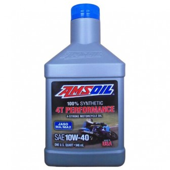 Моторное масло AMSOIL 100% Synthetic 4T Performance 4-Stroke Motorcycle Oil 10W-40 0.946 л