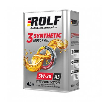 Моторное масло ROLF 3-Synthetic 5W-30 4 л