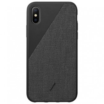 Чехол-накладка Native Union CLIC CANVAS для Apple iPhone Xs Max black