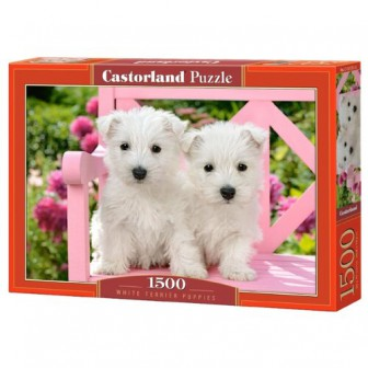 Пазл Castorland White terrier puppies (C-151721), 1500 дет.