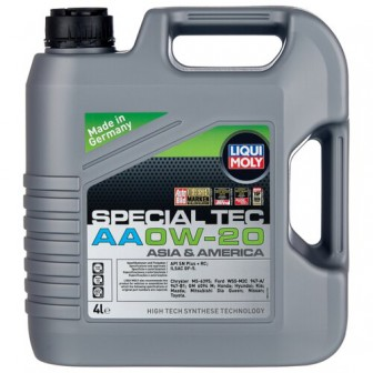 Моторное масло LIQUI MOLY Special Tec AA 0W-20 4 л