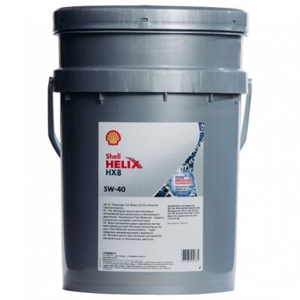 Моторное масло SHELL Helix HX8 Synthetic 5W-40 20 л