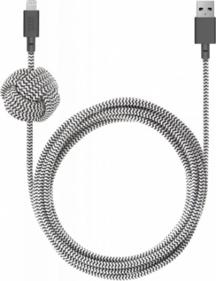Native Union Night Cable Apple 8pin 3м (зебра)