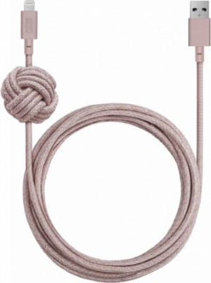 Native Union Night Cable USB - Apple 8pin 3м (розовый)