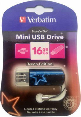 Verbatim Mini Neon Edition 16Gb (синий)