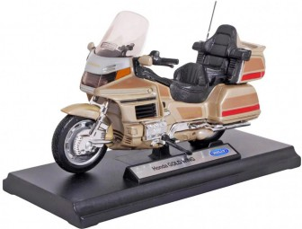 Welly Модель мотоцикла 1:18 Honda Gold Wing (золотой)