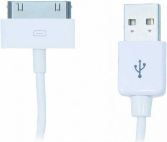 Gerffins Round Apple 30 pin - USB (белый)
