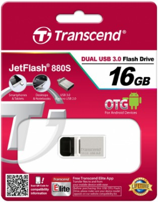 Transcend JetFlash 880 16Gb (серебристый)