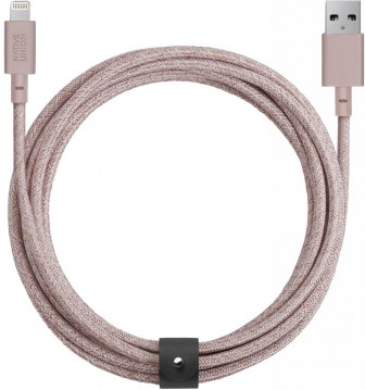 Native Union Belt USB - Apple Lightning (розовый)