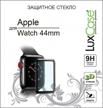Luxcase 3D FG для Apple Watch 44 мм черная рамка