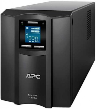 APC Smart-UPS SC, Line-Interactive, 1000VA / 600W, Tower, IEC, LCD, USB